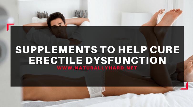 Suplementos para disfunção erétil