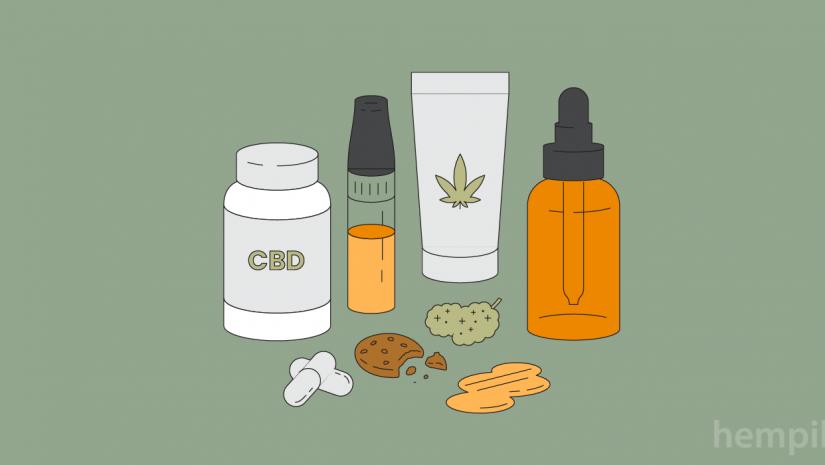 Os diferentes tipos de produtos CBD