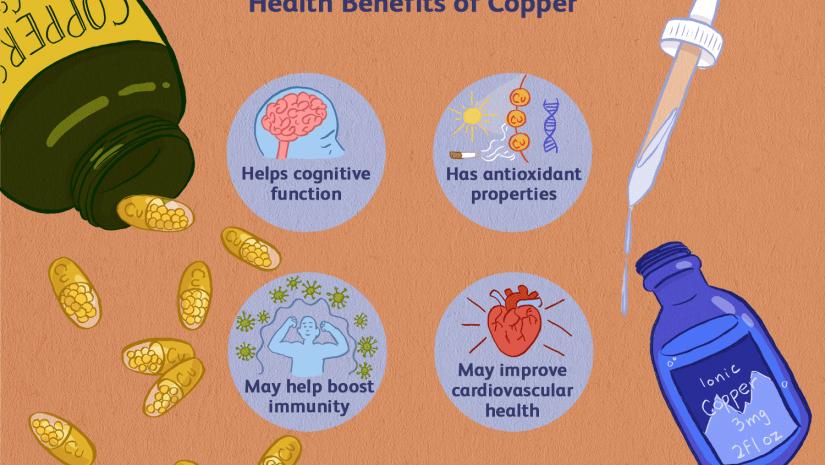 Os benefícios do cobre para a saúde